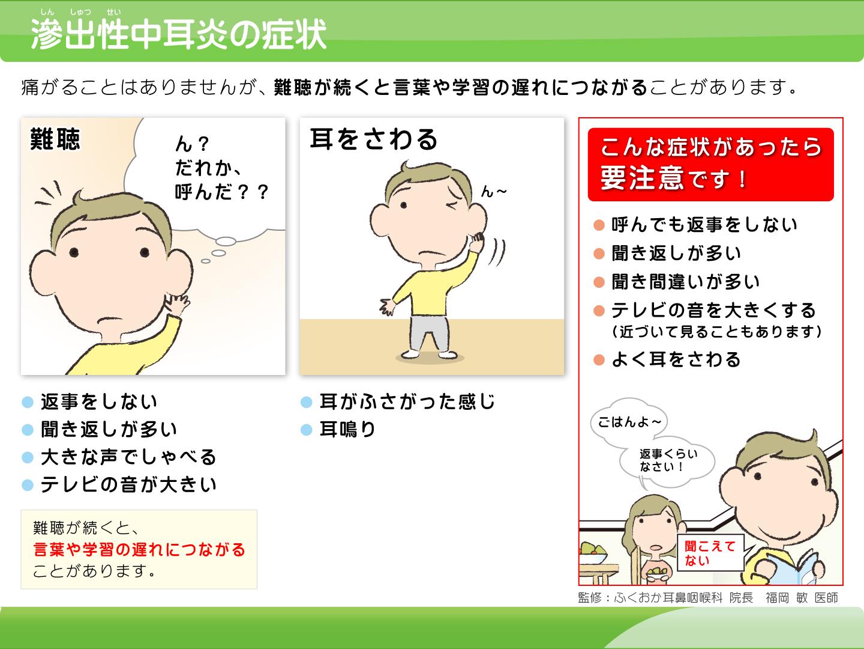 【画像】滲出性中耳炎の症状解説