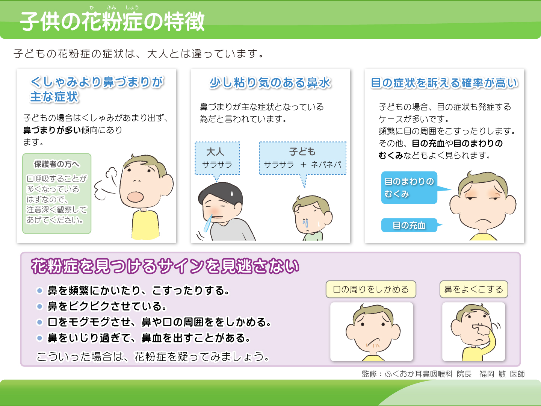 【画像】子供の花粉症の特徴解説